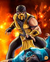 scorpion vs subzero 2 by synysterangel