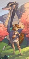 In the land of pink blossoms by Flying-Fox