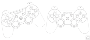 Playstation 3 Controller Outline by GHussain