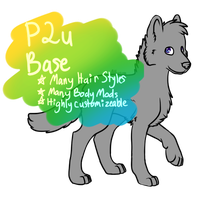 Canine Base {P2U} by Allysuns-Adoptables