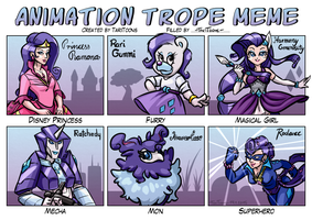 Animation Trope Meme - Rarity by TariToons