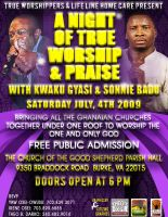 A NIGHT OF WORSHIP FLYER by truthdondie