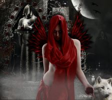 Red Gothic Angel by tinca2
