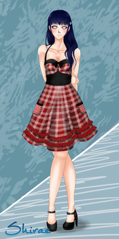 Rockabilly Style in Black and Red : Hinata by ayakestra