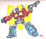 OPTIMUS PRIME by fountainspen