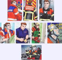 Firefighter Tammo ACEO Cards by nessi6688
