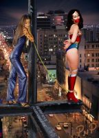 PNP Wonder Woman Linda Carter Bound 2 by ArtT1000