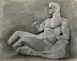 Statue (charcoal still life) by Elleon12