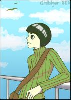 Rock Lee- relaxing in the sun by chibigon