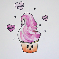 Kawaii Ice Cream by YummyBiscuit