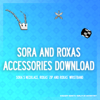 Sora's and Roxas' accessories - DL by Kingdom-Hearts-Realm