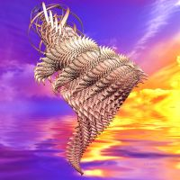 Wire Wrapped Golden Sunset by julev69
