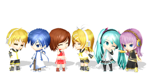 .: DL Series :. Mini Vocaloids by Duekko
