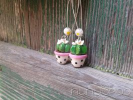 Succulent plant Collection - Earrings 06 by nunyArt