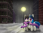 Snowy Night by DormantFlame