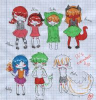 My chibi new ocs by yui-cute