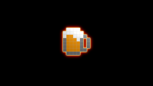 beer 8bit wallpaper by ekino93