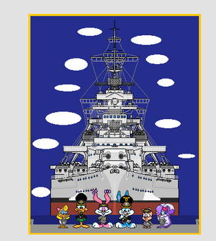 WW2-Tiny Toons: The Crew of the Bismarck by denmark137