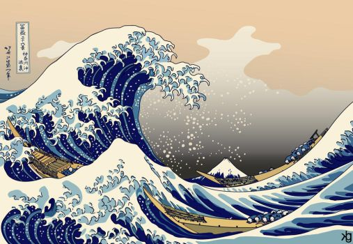 The Great Wave Off Kanagawa by VectorJones