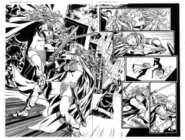 Red Sonja 65 page 02-03 by wgpencil