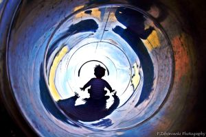 my son on slide by pzaborowski