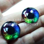 Rainbow Glass Eyes 4 Jewelry by Create-A-Pendant