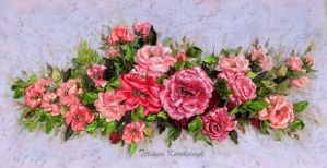 Roses embroidered by TetianaKorobeinyk