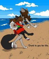 Stuck to you by hisakata-kitsune