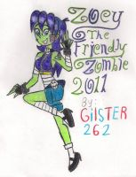 Gilsterverse: Zoey Zombie by gilster262