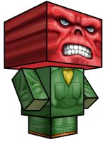 Cubee - Red Skull by 7ater