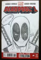 Deadpool sketch cover commission from Big Wow by thEbrEEze