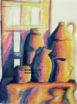 Aquarel study with a limited colour palet by ArinantWolf