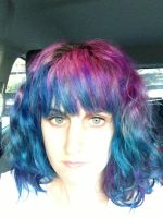 Purple and Blue Hair by becatron