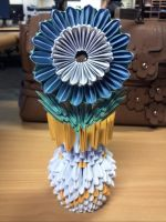 Origami Flower and Vase by collarander