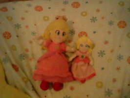 My Princess Peach plushies by 5DsPeach