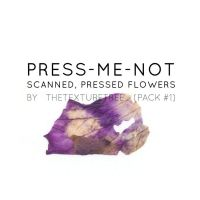 Press Me Not (Pressed Flowers) Texture Pack by thetexturetree
