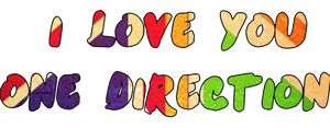 I Love You One direction by ronniie