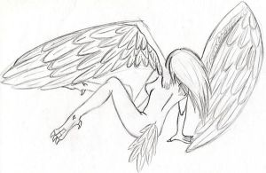 Harpy. Tired of being one... by MetalHarpey