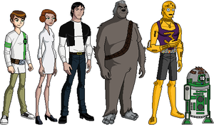 Starwars Ben 10 heroes by deviantdeath6910