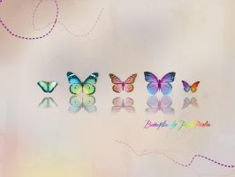 Butterflies colour by PinkyPinkee