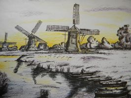 Dutch windmills. by SarvetEsiin