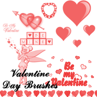 Valentine Day Brushes by lunabeam18