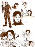 Spme Snake n Otacon by blacktenshi22