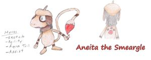 Aneita the Smeargle by MiniDragonfly