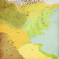 Equestria Divided: Map of Equestria (background) by TheArchivist101