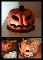 Fake Pumpkin - Halloween Cake by CakeUpStudio
