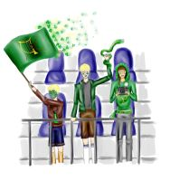 Irish Quidditch Team fans by BeatrixBonnie