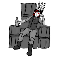 Queen Whiskey's Throne WIP by glue123