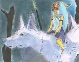 Princess Mononoke by gepardo
