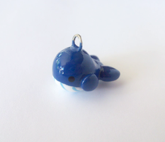 Cute Blue Whale Charm by MariposaMiniatures